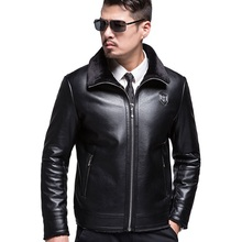 KUYOMENS New Men's Leather Jackets Spring and Autumn Leather Jacket For Men Faux Leather Coats Loose Big Size PU Jackets