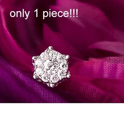 1CT бриллиантовый эффект GVBORI 18k золотые серьги для женщин хорошее ювелирное изделие бриллиантовые серьги дизайн короны - Цвет камня: one piece
