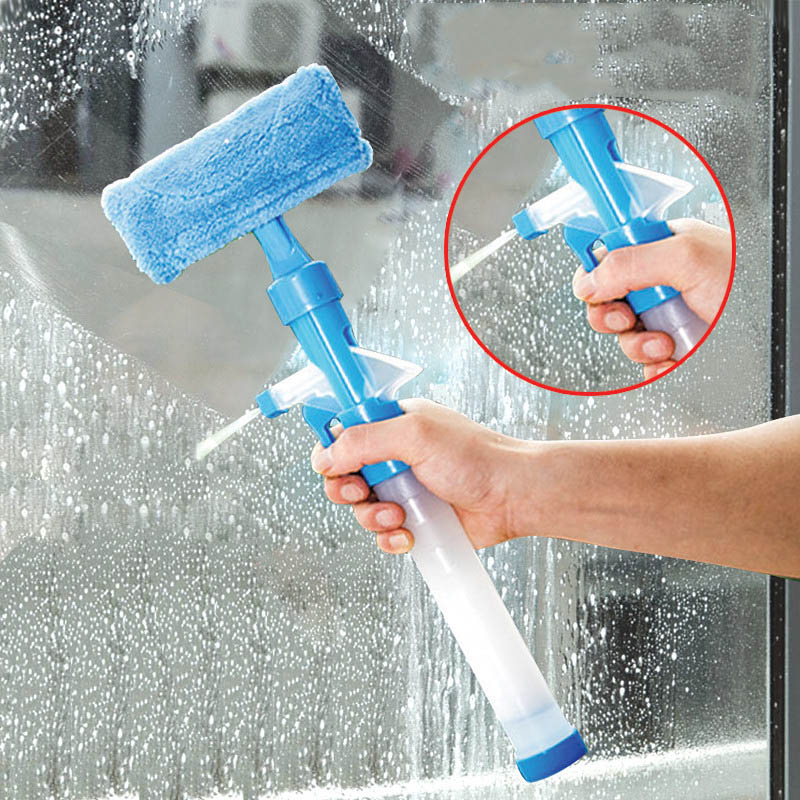 Multifunction Home Tools Spray Water Brush Cleaner Glass Cleaning Brush Glass Wiper Window Cleaner TB Sale