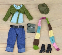 Doll Accessories Set Autume Winter Wear Suit Set Fashion Clothes For Barbie Doll House Sweater Pants
