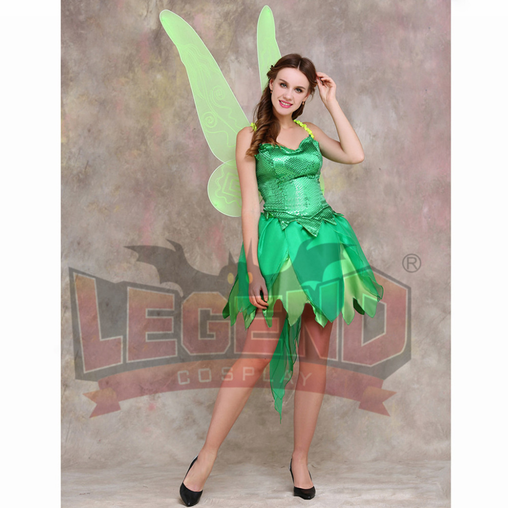 tinkerbell dress costume adult tinker bell dress skirt corset wing halloween carnival birthday party cosplay costume in movie tv costumes from novelty