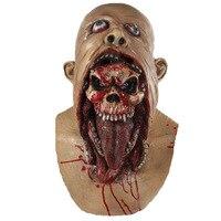 Tam Kafa Maskesi Erime Zombi Kanlı Undead Korku Yetişkin Lateks Scary Insane Masquerade Parti Cadılar Bayramı Kostüm Maske