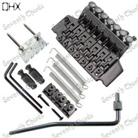 QHX A set Black 7 Strings Tremolo Bridge Double Locking Systyem for Electric Guitar accessories parts Musical instrument
