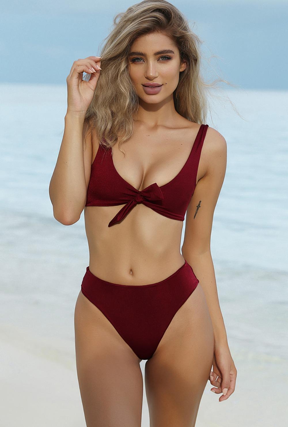 HTB1nfi1RVXXXXaHXVXXq6xXFXXXd - Summer sexy Beach Bikini Double wrapped chest Women Beach swimsuit Underwear Bra sets JKP388