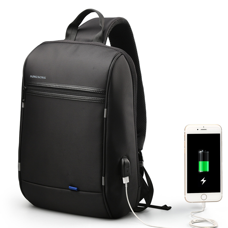 Kingsons Backpack Men 13.3 Inches Latop Bagpack Anti Theft USB Charging Back Pack For Teenager Boys Travel Fanny Waist Chest Bag
