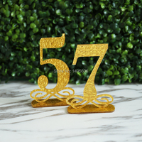 Gold glitter Table Numbers, Wedding Table Decor, Acrylic, Table Numbers for Events, Freestanding Table Numbers Go