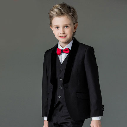 High quality  fashion baby kids boys children blazers suits boys suits for weddings formal black wedding suit flower boy dress