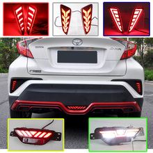 2PCS For Toyota C-HR CHR 2016 2017 2018 Multi-functions Car LED Rear Fog Lamp Bumper Light Auto Bulb Brake Light Reflector Lamp