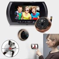 4.3 Inch Motion Detection Door Peephole Camera 140 Degrees Video Peephole Viewer Door Camera Night Vision Door Viewer Dropship