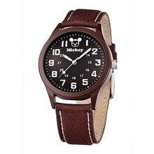 Disney бренда Детей Кварцевые часы 30 м водонепроницаемый Микки дети часы мальчики Мультфильм Аниме спортивные холст часы
