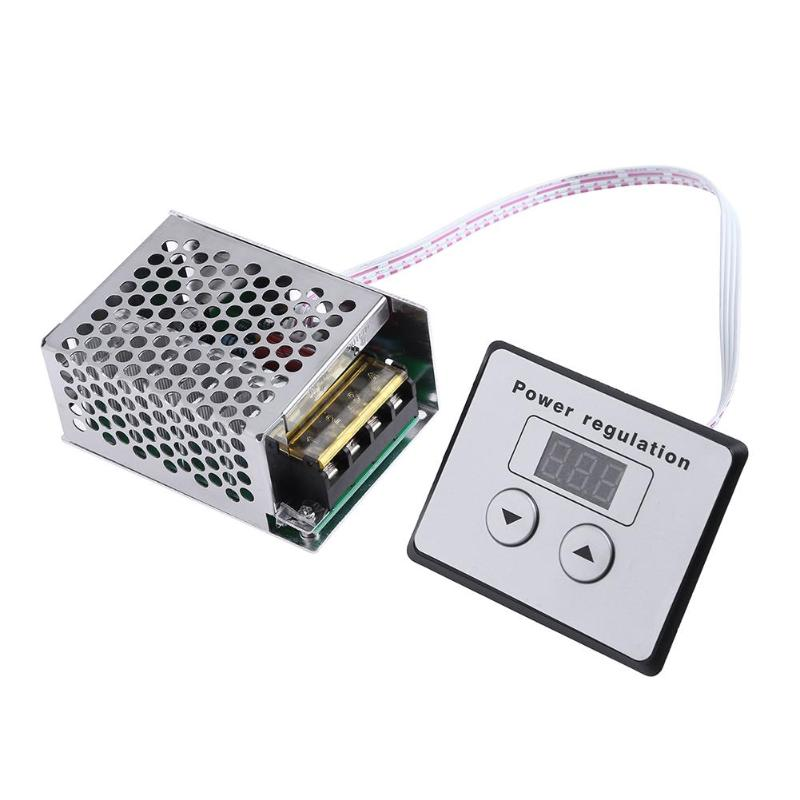 Voltage Regulators AC 220V 4000W SCR Thyristor Digital Control SCR Electronic Voltage Regulator Speed Control Dimmer Thermostat