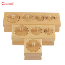 Wooden Cylinder Socket Blocks Toys Sensory for Baby 0-3 Years Kids Preschool Home Games Educational Montessori Toy LT061-3