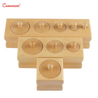 Wooden Cylinder Socket Blocks Toys Sensory for Baby 0 3 Years Kids Preschool Home Games Educational Montessori Toy LT061 3