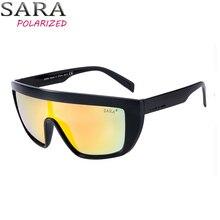 0cfabd37da SARA deportes hombres de gran tamaño gafas de sol mujeres moda una pieza  lentes sombras gafas