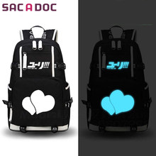 Anime Yuri on Ice Victor Nikiforov Backpack Yuri Plisetsky Prints School  Bags For Teenagers Boys Girls Daily Luminous Backpack f3d837ded2
