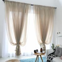 Cortina para sala de estar  8 cores puro produto acabado tule transparente voile cortinas para quarto rideaux voilage cortinas