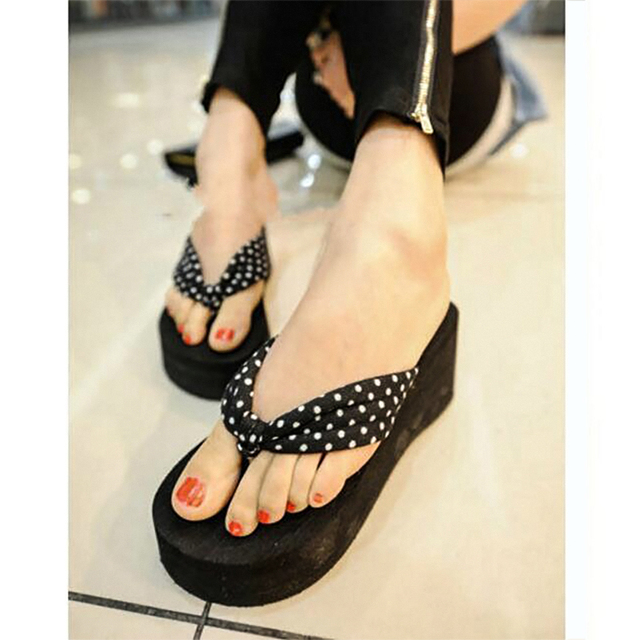 b13a01c356ae2f Women Sandals Summer Shoes Slipper Slope With Thick Crust High-heeled Flip  Flops Beach Sandals Muffin Sandals Slippers Wedges