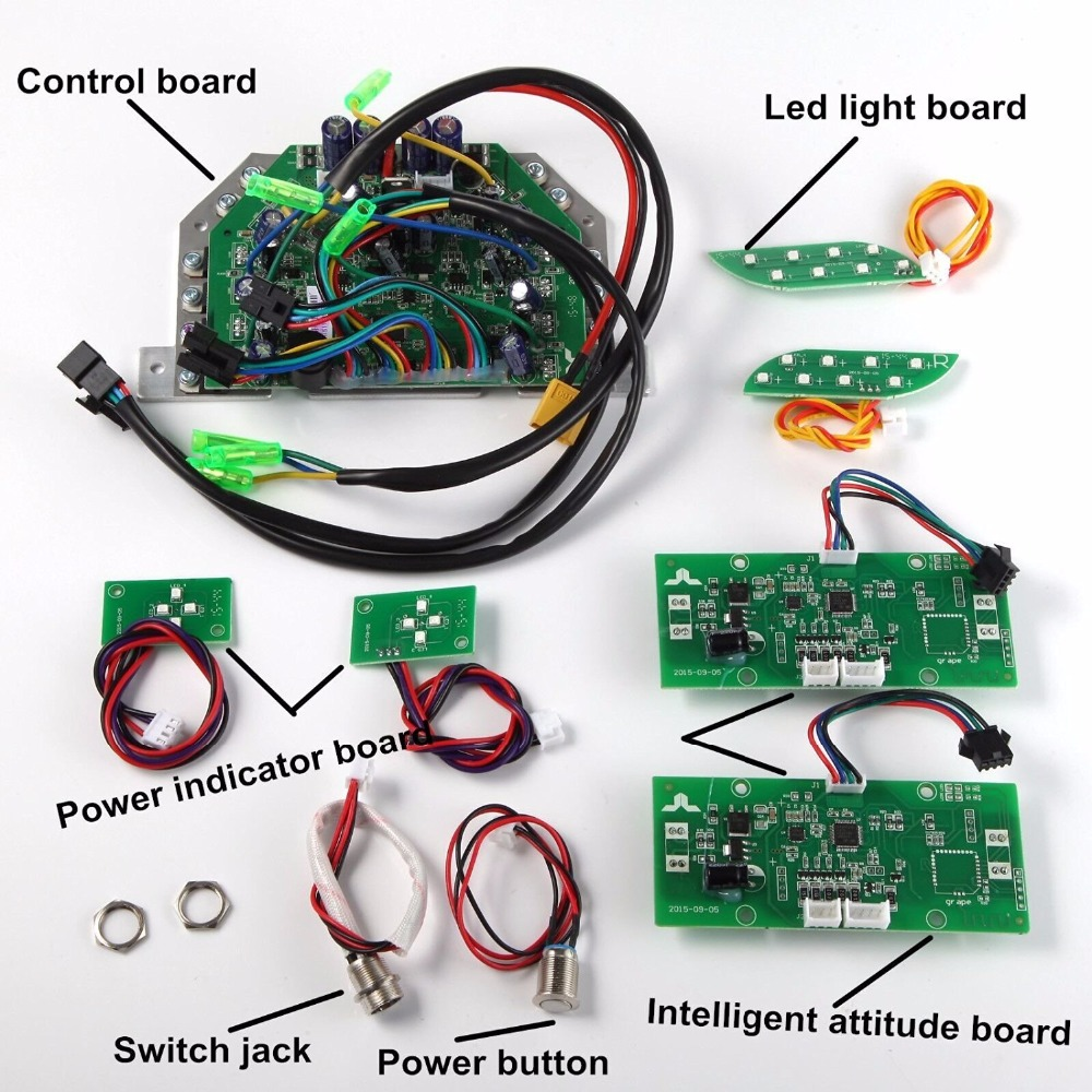 Wheel Hoverboard Wiring Diagram on schematics for, charging without cover motherboard, brushless internal, charging port,