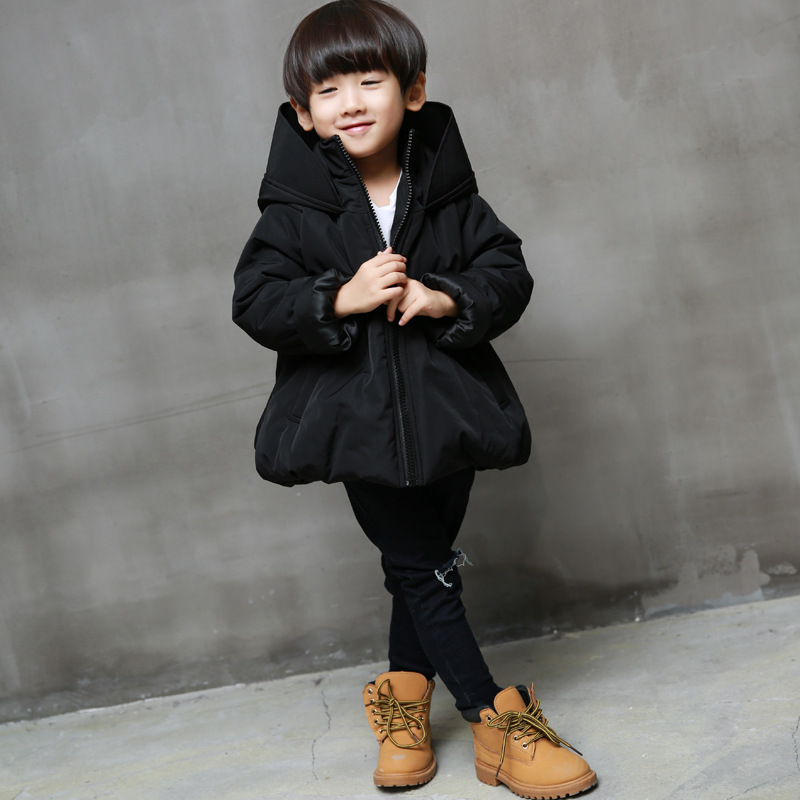 2016 new winter coat boy funny hoodie coat thick loose coat free shipping
