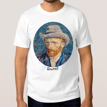 100 Cotton For Shirts O-Neck Graphic Short Sleeve Vincent Van Gogh T Shirts For Men