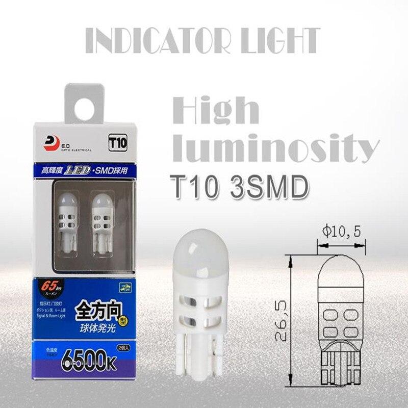 Vendita calda T10 HA CONDOTTO LA Luce di Cupola Luci di Portello del LED T10 Automobilistico Lampadine Super Bright 6000 K DC 12 Tensione