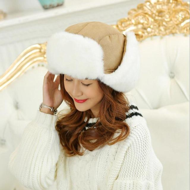 HT533 clásico sólido sombrero del invierno para hombres mujeres Unisex  negro sombrero tapa ruso sombrero Ushanka bombardero sombrero hombres  mujeres ... 820f8ac719e