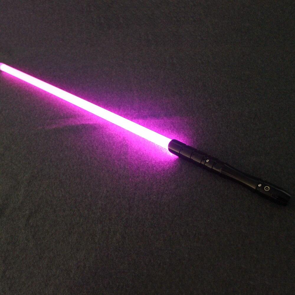 Sabre laser avec son léger Jedi Sith Luke sabre léger Force lourde Dueling couleur changeante son FOC verrouiller métal poignée épée - 5