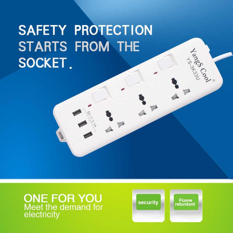 Listwa zasilająca inteligentna wtyczka elektronika domowa szybkie ładowanie z gniazdem USB uniwersalne gniazdo ścienne wtyczka gniazdo przedłużacza dla ue usa