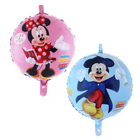 Free Shipping 50 pcs/lot Mickey doctor balloons cartoon Mickey Minnie mouse helium Ballons for Kids Birthday Party Decorations