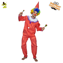 QLQ Funny Men Circus Clown Costumes Cosplay Clothes Performance Masquerade Carnival