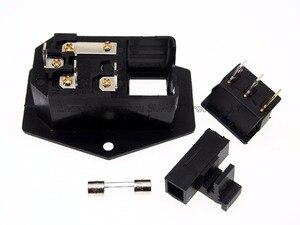 Image 5 - 3 in 1 wippschalter mit hellblau, AC 01A sicherung steckdose stecker 3 Pin 15A 250 V mit Sicherungsblock + 10A Sicherung