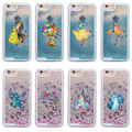 Glitter Liquid Watercolor Tinkerbell Mickey Minne Stitch Mermaid Poof Bear Hard Case For iPhone 7 7Plus 6 6S 8 X XS Max
