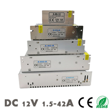 1pcs 400w 12v power supply 12v 33a centralized power supply ac dc 110 230vac s 400 12 DC 12V Power Supply LED Strips Lighting Transformer Driver Switching SMPS Adapter AC 110~220V 2A 3A 6.5A 10A 15A 25A 30A 33A 42A