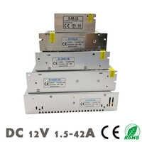DC 12V fuente de alimentación tiras LED transformador de iluminación interruptor SMPS adaptador AC 110 ~ 220V 2A 3A 6.5A 10A 15A 25A 30A 33A 42A