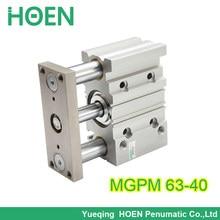 Cilindro de aire neumático de rodamiento de tres ejes compacto MGPM63-40 MGPM con cilindro de barra guía mgpm 63-40 63*40 63x40