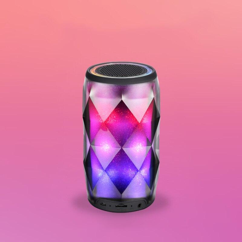 Luce di notte Speaker Bluetooth Portatile Altoparlante Senza Fili Bluetooth Touch Control 6 Colori LED Temi Comodino Lampada Da Tavolo