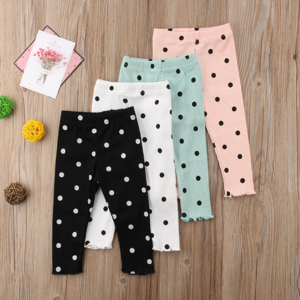 Trousers Pants Legging Polka-Dot Baby-Girls Infant Kids Child Casual Lovely