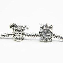 925 Silver Love Heart Bead DIY  European Beads Fits Charm pandora Bracelets necklaces pendants B00001