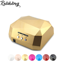 36W Nail Dryer Diamond Shaped 110V & 220V LED Lamp Best Curing Nail Dryer For UV Gel Nail EU And AM Plug Nail Art Tools
