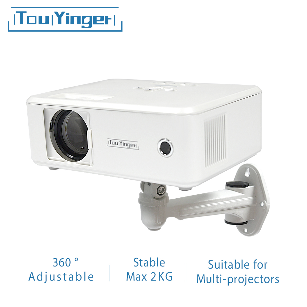 Touyinger Projector Brackets Wall Ceiling Mount X-wall 360 Degrees Adjustable Projector Hanger Holder Loading 2KG