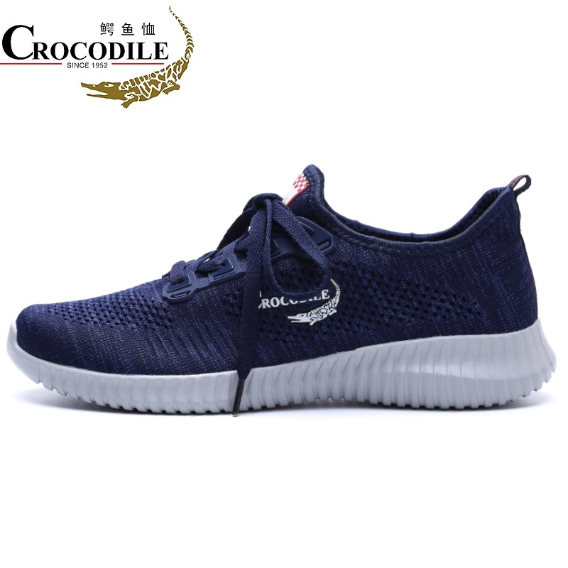 Crocodile Original Men Sneakers 2018Summer Leisure Athletic Flat Drive Sport Shoes for Mens Light Fabric Jogging Running Shoes