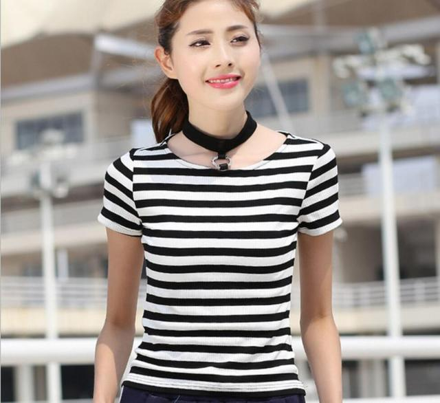 Summer Fashion Striped Cotton Short Sleeved Brand Polo Clothes Plus