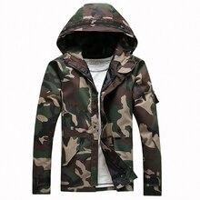 Male hood Jacket Camouflage 2017 men's Clothing Military Mens Outerwear & Coats Windbreaker Jackets Streetwear Coats plus XXL