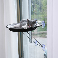 SMARTPET Window Mounted Cat Hammock Cat Lounger Bed Cat Afternoon Nipping Bed Cat Bed for Afternoon Sleeping