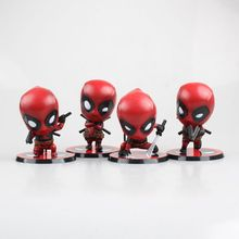цена на Wade Winston Wilson Deadpool Anime Action Figures Cute Kawaii Figurines Brinquedos Model Toys Kid Children Birthday Gifts Marvel