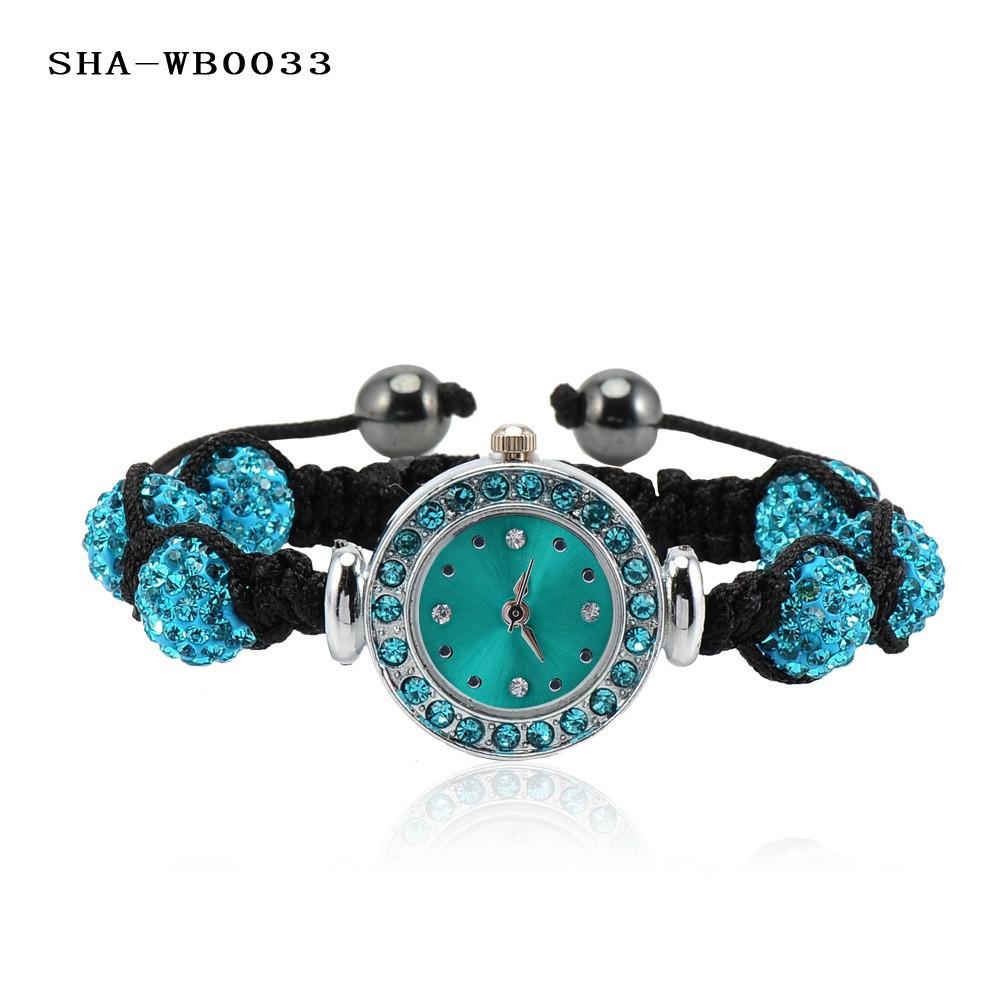 оптовая продажа 10 мм кристалл а . б . клей бал шамбалы браслеты браслеты часы мода часы браслет цветов смешивания опции ша-wbmix4