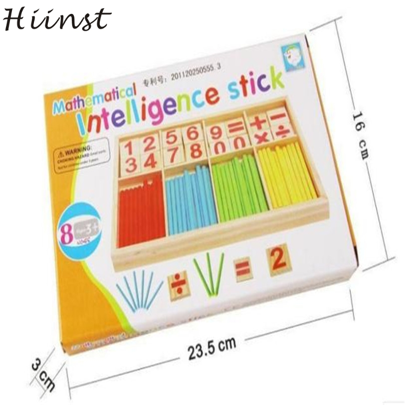 HIINST Best-seller drop ship Kids Child Wooden Numbers Mathematics Early Learning Counting Educational Toy S25 AUG1420