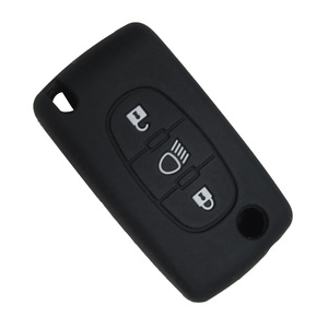 Image 4 - Okeytech 3 Knoppen Zachte Siliconen Rubber Autosleutel Cover Case Shell Skin Protector Fob Voor Citroen C2 C3 C4 Picasso xsara C5 C6 C8