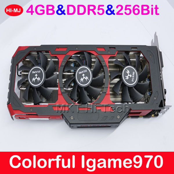 100% Original For 3D Games GTA5 4GB DDR5 256Bit Colorful Igame970 GTX970  Placa De Video Graphics Card Video Card for Nvidia-in Graphics Cards from