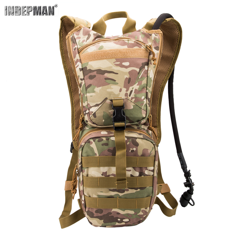 Indepman 1000D Oxford Nylon Material Outdoor Tactical Backpack Camouflage Waterproof Durable Sport Hiking Water Bag Backpack
